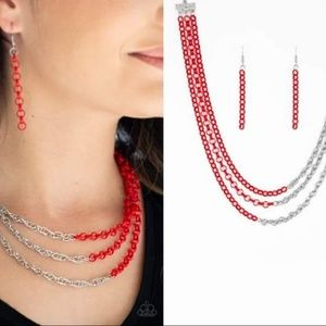Dual-Colored Chain Necklace Set - Fashion Accessor